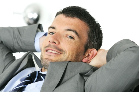 Attractive businessman is taking break from business Stock Photo - 10028449