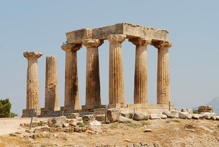 peloponnesus: The Temple of Apollo in Ancient Corinth