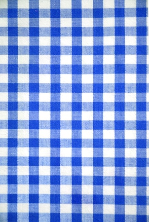 Blue and white tablecloth pattern, abstract background photo