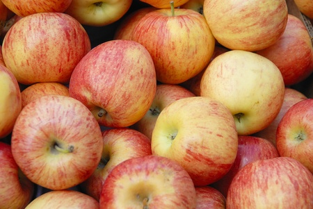 ligne: pommes Stock Photo
