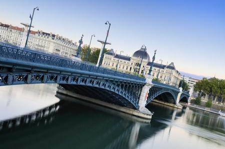 ne: universities and Rhône river in Lyon, France