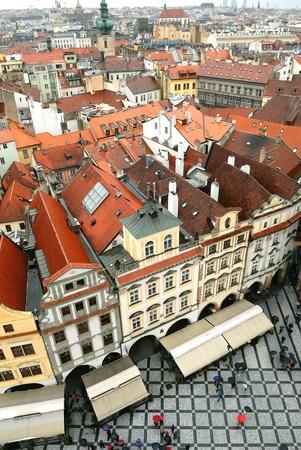 Crowded square, Prague city, Czechia  photo