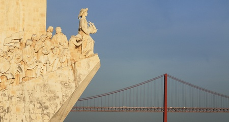 discoveries: The Padrao dos Descobrimentos (Monument to the Discoveries) celebrates the Portuguese who took part in the Age of Discovery. It is located in the Belem district of Lisbon, Portugal