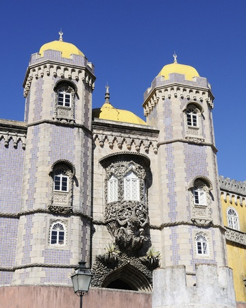 pena: Pena National Palace in Sintra, Portugal  Stock Photo