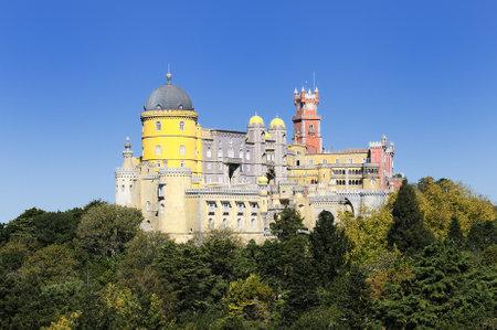 pena: Pena National Palace in Sintra, Portugal (Palacio Nacional da Pena)