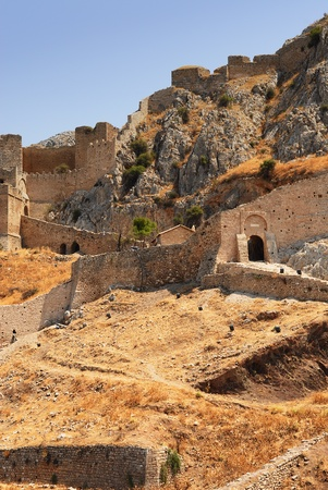 Old fort in Corinth, Greece - archaeology background Stock Photo - 11266186