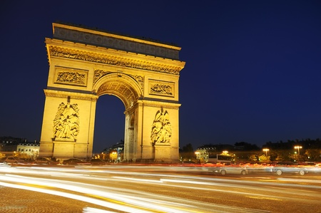 Arch of Triumph on the star place square. Paris, France