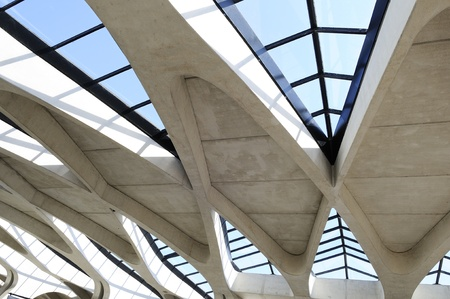 Contemporany roof, architecture detail Editorial