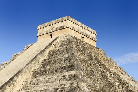 Chichen Itza feathered serpent pyramid, Mexico  photo