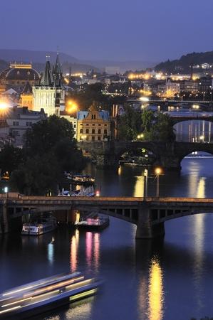Prague at night. Czech Republic photo
