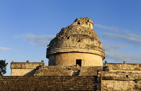mayan riviera: The observatory at Chichen Itza, mexoco, Yucatan Stock Photo
