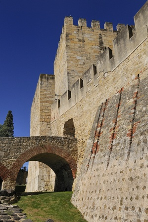 fortify: Sao jorge medieval scastel in Lisbonne, Portugal Stock Photo