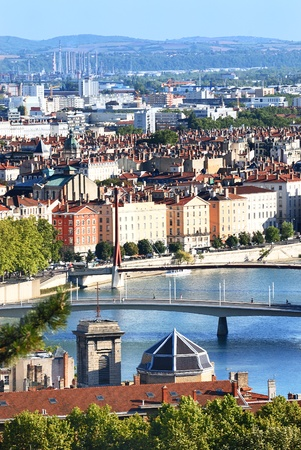 rhone: View of the Saone River in Lyon, France