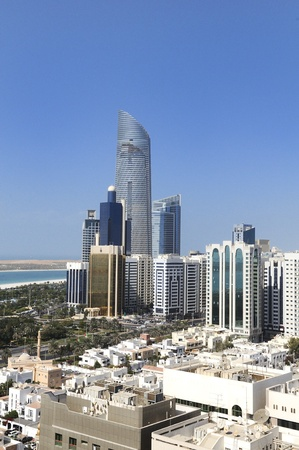 abu dhabi: View of Abu Dhabi city, United Arab Emirates by day Stock Photo