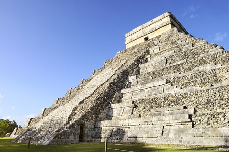 feathered: Chichen Itza feathered serpent pyramid, Mexico