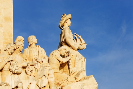 belem: The Padrao dos Descobrimentos  Monument to the Discoveries  celebrates the Portuguese who took part in the Age of Discovery  It is located in the Belem district of Lisbon, Portugal