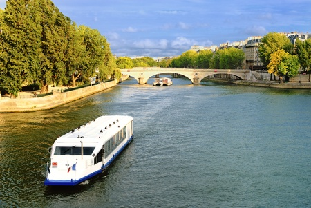View of  a bridge over the Seine river. Paris, France.  Stock Photo - 13012609