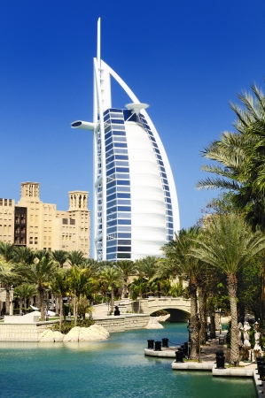 View at hotel Burj al Arab from Madinat Jumeirah, Dubai Stock Photo - 13077014