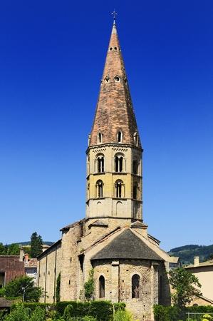 abbeys: Famous abbey of Cluny, Burgundy, France