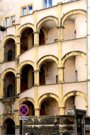henri: the famous Henri kings house, Lyon France. Renaissance style, fifth District column