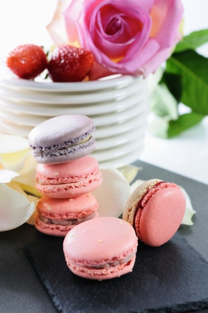 shaped macaroons for valentine photo