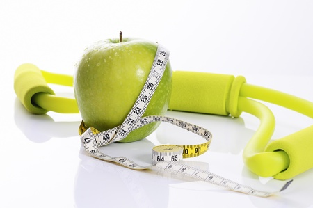 apple, fitness and nutrition spirit