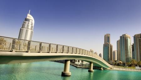 the emirates: pasarela y la arquitectura en la ciudad de Dubai, Emiratos �rabes Unidos