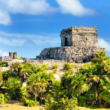 tulum: Photo of the Mayan ruins in Tulum Mexico
