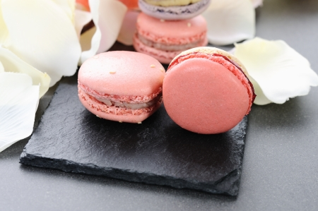 shaped macaroons for valentines day or mothers day photo