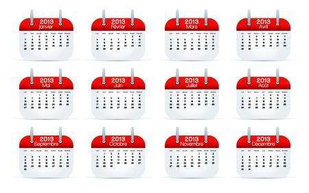 scots: Annual Calendar 2013 Franch