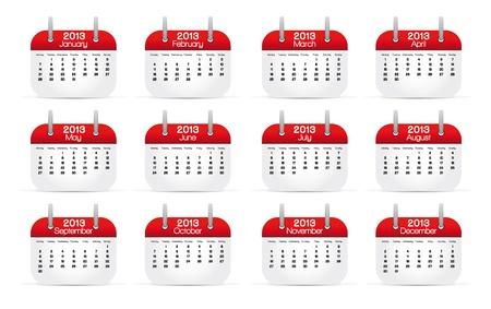 Annual Calendar 2013 Stock Vector - 14079517