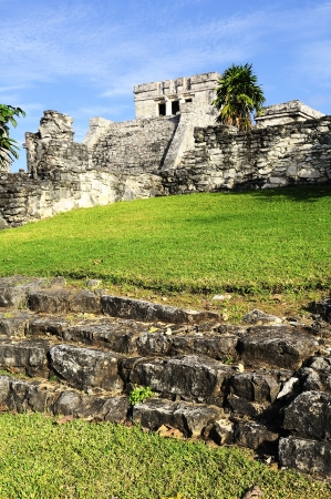 Photo of the Mayan ruins in Tulum Mexico  Stock Photo - 14468765