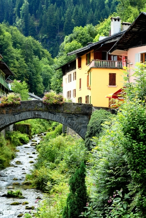 famous and beautiful alpine village, Beaufort sur Doron, savoy, France photo