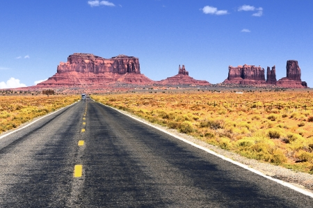 Road leading into Monument Valley   photo