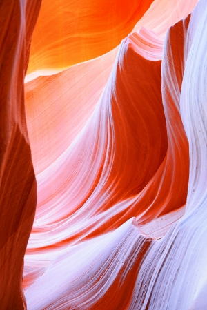 lower antelope: The Upper Antelope Canyon, Page, Arizona, USA  The second edition with the expanded range  Stock Photo