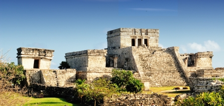 Photo of the Mayan ruins in Tulum Mexico