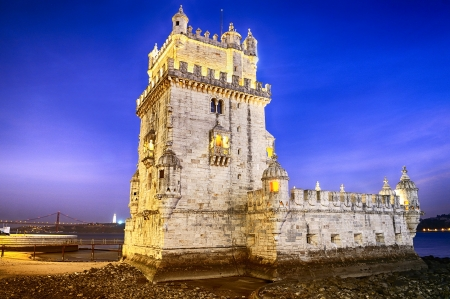 lisbon: Belem tower in Lisbone city, Portugal