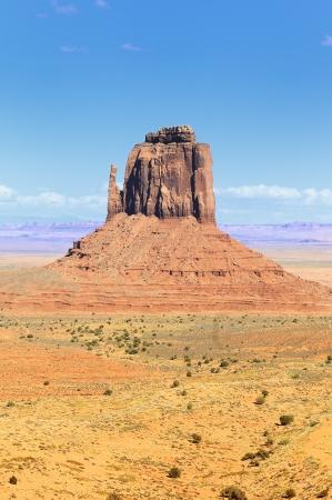 navajo land: The unique landscape of Monument Valley, Utah, USA.