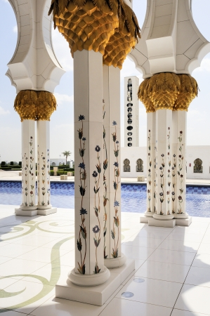 abudhabi: Sheikh Zayed mosque at Abu-Dhabi, UAE
