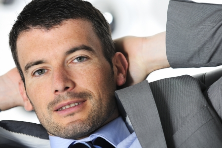Attractive businessman is taking break from business Stock Photo - 16681818