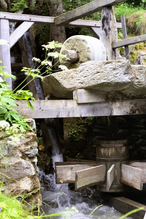 millstone: Millstone of an old mill, old architecture Stock Photo