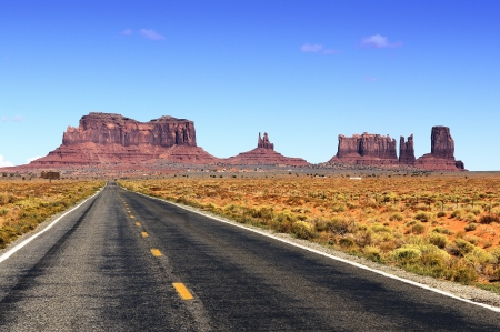 iron oxide: Road leading into Monument Valley.