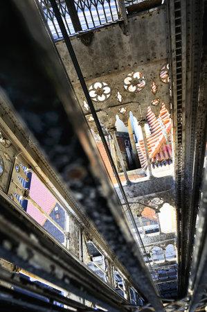 baixa: Famous santa justa elevator in lisbon, Baixa area, Portugal