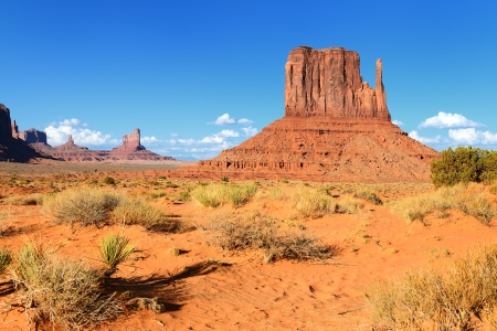 tribal park: The unique landscape of Monument Valley, Utah, USA.