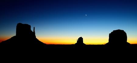the Monument Valley Tribal Park At Sunrise, Arizona Stock Photo - 17453401