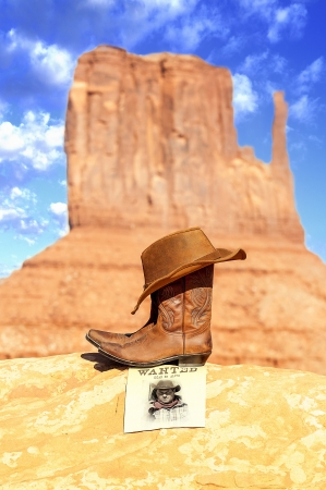 western attitude in Monument Valley, Southwest, USA photo