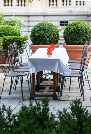 culinary tourism: romantic french restaurant with flowers