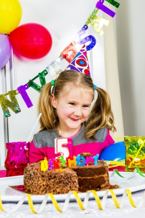 novelties: Happy little girl how have fun in a birthday party