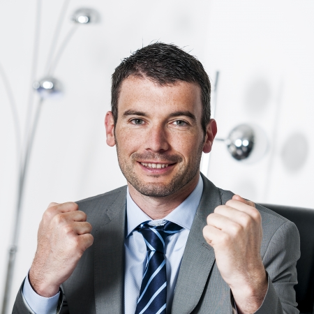 good looks: An attractive business man with succes Stock Photo