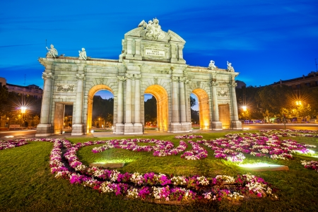 Famous Puerta de Alcala, Madrid,  cibeles district, Spain